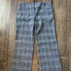 Grey stripped pattern pants